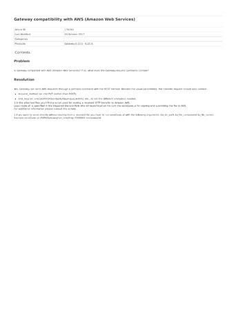 Transfer file to an Amazon S3 Bucket via Gateway